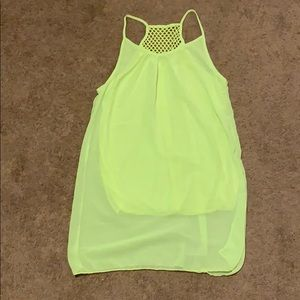 Wish Neon Yellow Coverup/Dress